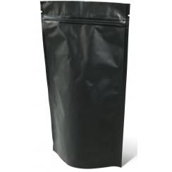 """Пакет """"Дой Пак"""" с металлическим замком и клапаном """"ЗИП-ЛОК"""" р-р 240*330(4040) чёрный 1000гр,"""